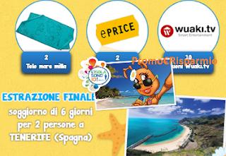 Logo Il Mondo di Milla: vinci gratis teli mare, buoni Wuaki ,ePrice e Tenerife