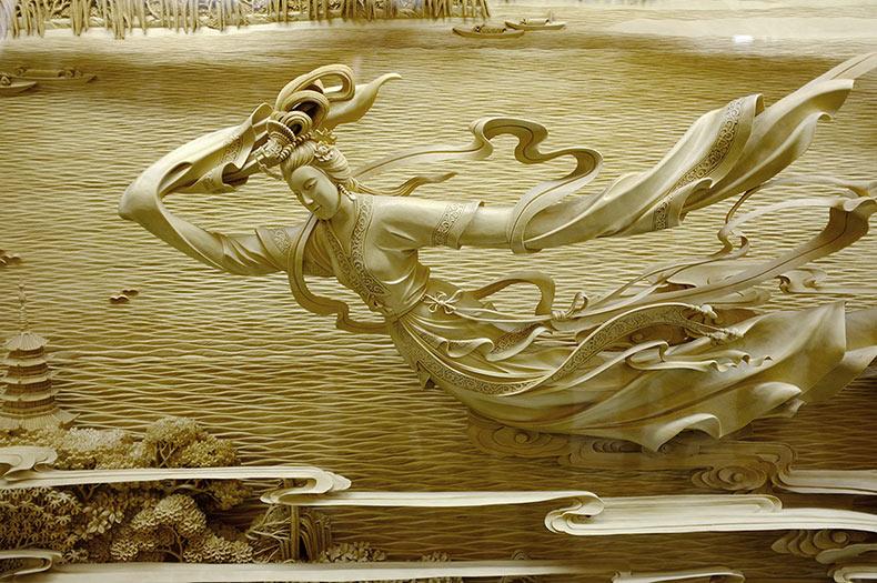 Esculturas de madera increíblemente detalladas traen a la vida el tradicional tallado de madera Dongyang