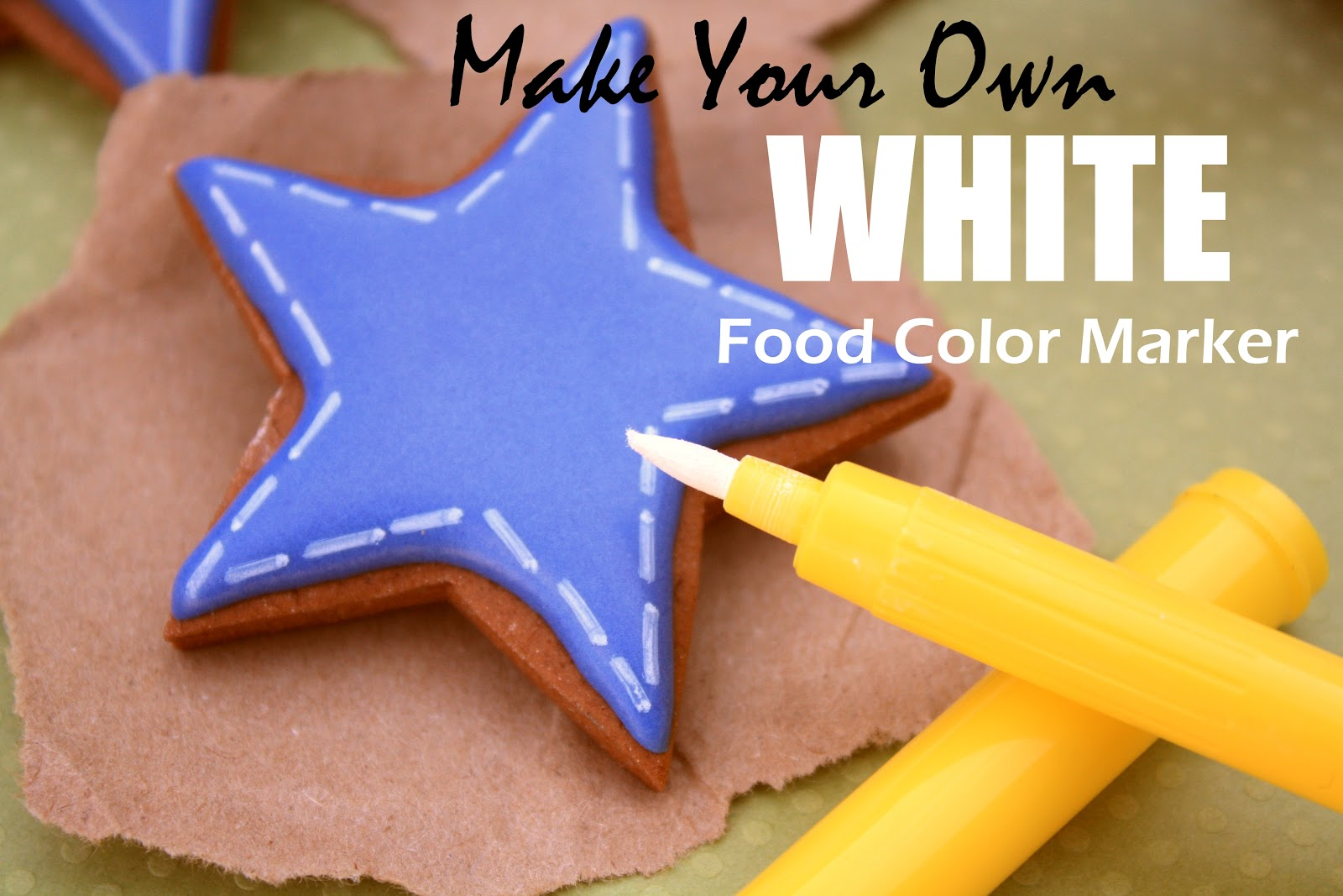 Make Your Own WHITE Food Color Marker