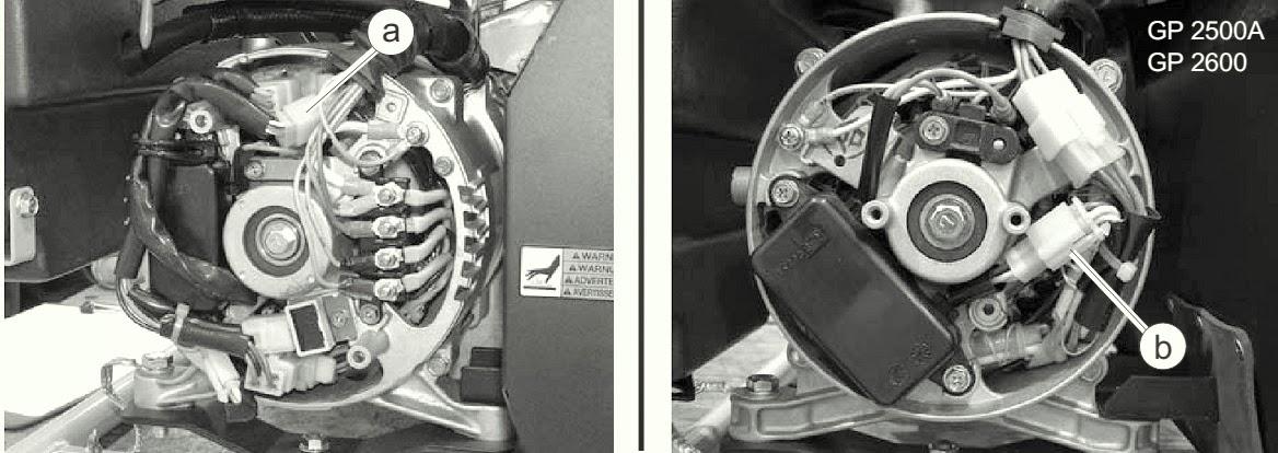 EXCITATION WINDING AND AVR SENSING WIRE CHECKING - Wacker Neuson GP on