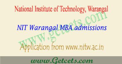 NIT Warangal MBA admissions 2018,NIT Warangal MBA admission notification 2018