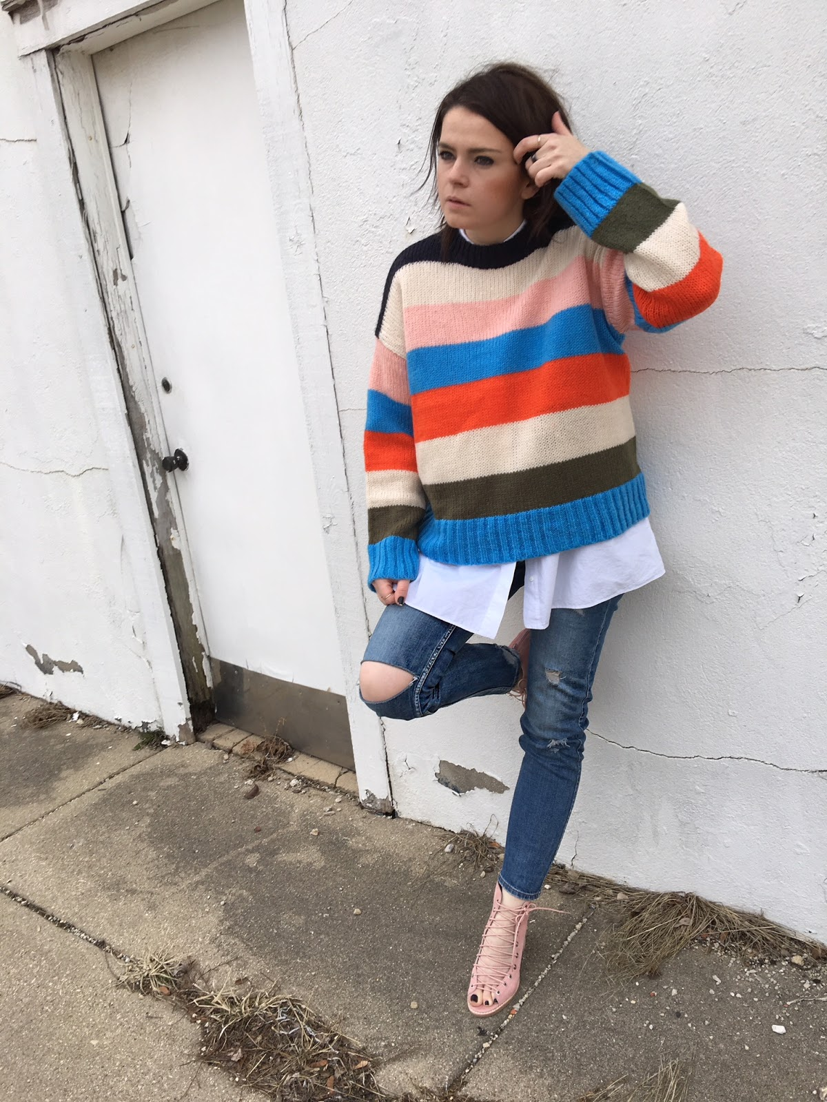 Urban Outfitters colorful stripes sweater
