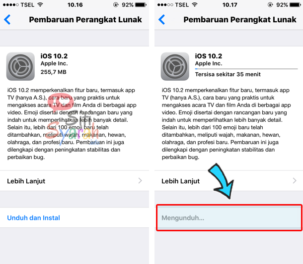 membatalkan update ios di iphone 6