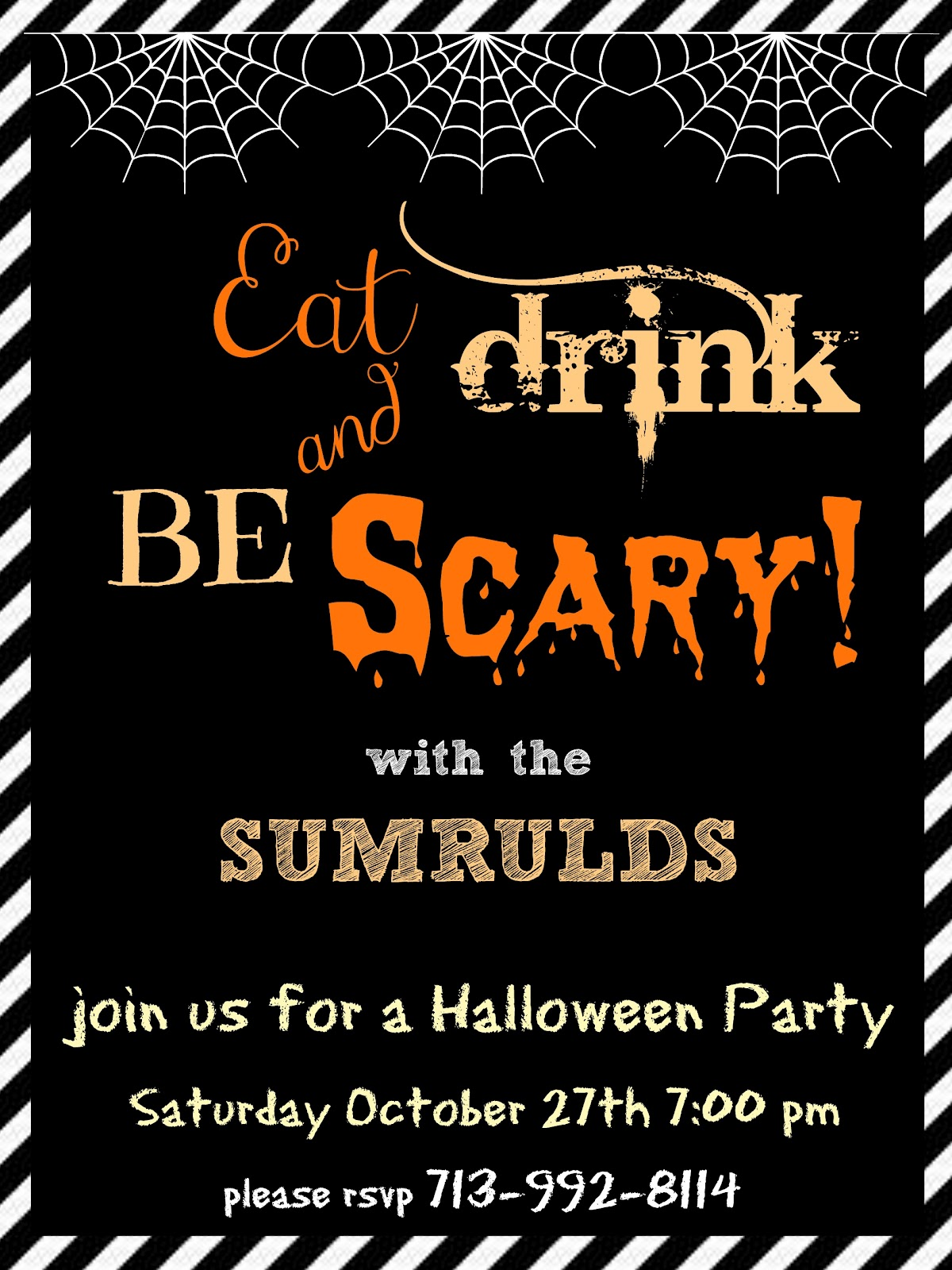 Crafty In Crosby: Halloween Party Invitations - Please ...