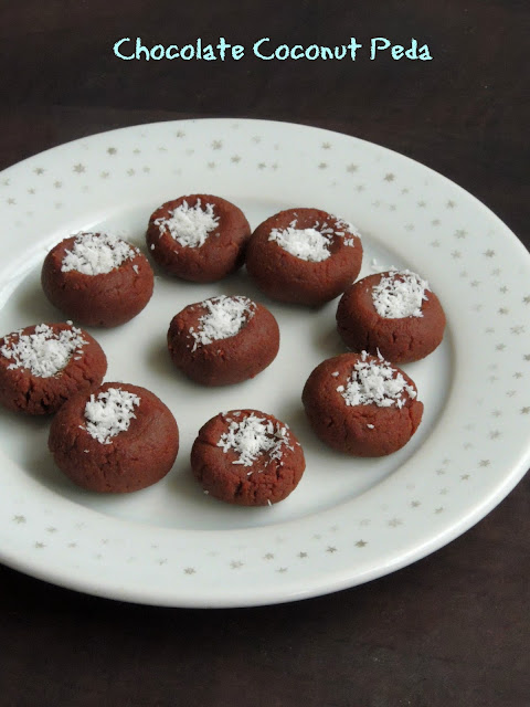 Chocolate Coconut Peda, Coconut chocolate peda