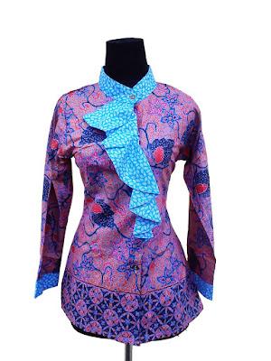 Desain Baju Batik Modern Kantor