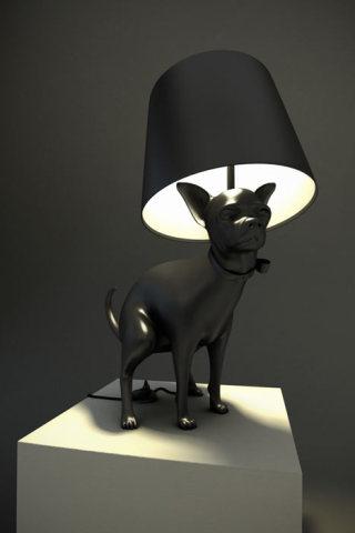 Diseño de lampara en forma de perro