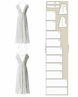 patrón de vestido de verano largo