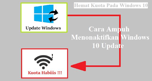 hemat kuota dengan mematikan update windows 10, mengatasi windows 10 boros data kuota