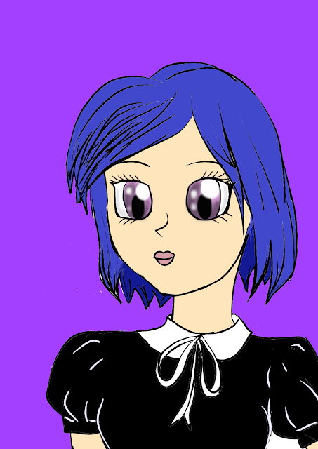 anime, girl, draw, dibujo
