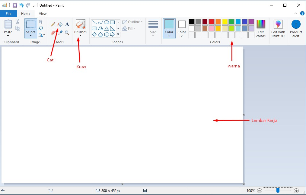 Cara Mudah Mengajari Anak Mewarnai Gambar Di Komputer