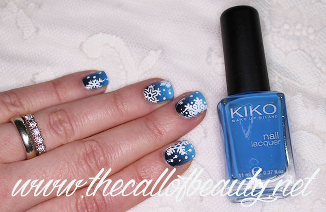 Nail Art: Snowy Night