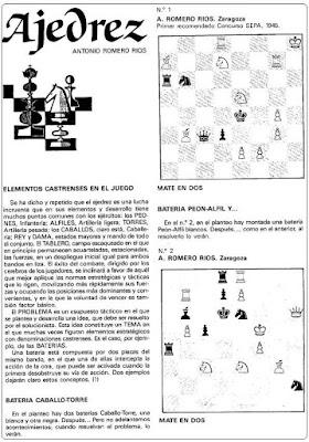 Problemas de mate de Antonio Romero Ríos en la revista Ejército, marzo 1987