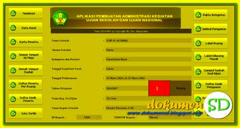 Download Dokumen Aplikasi Administrasi Ujian Sekolah Dasar (SD) 2017