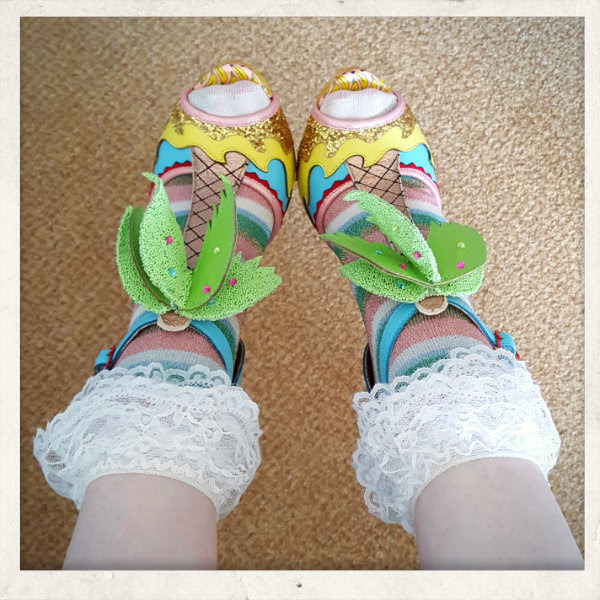 wearing irregular choice miami shoes