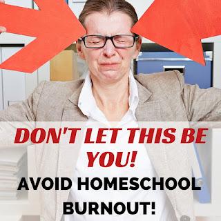 Avoid homeschool burnout