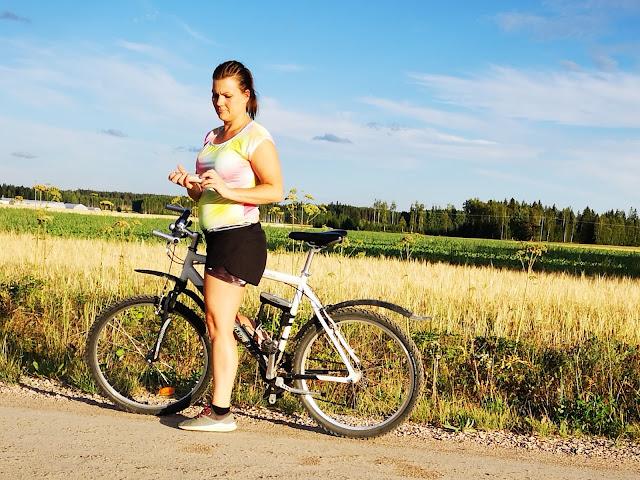 Tauko pyörälenkillä