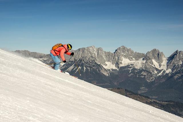 Erste Skitage auf Kunstschnee