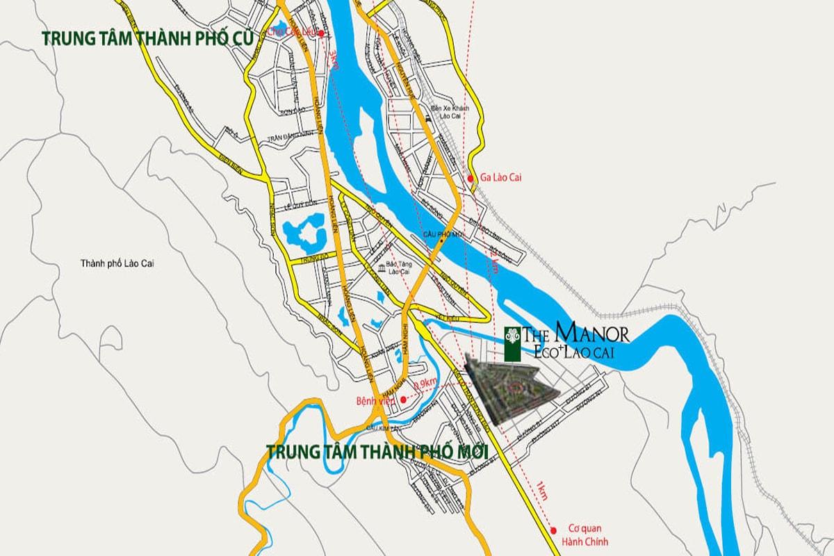 Vị trí Dự Án The Manor Eco+ Lào Cai