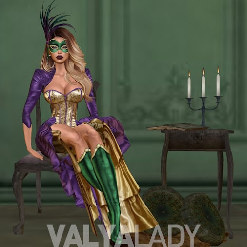 Masquerade Queen | Mardi Gras Costume Maquerade Queen - Mardi Gras costume set original textures (PhotoShop...