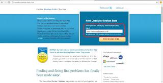 Apa yang akan anda lakukan kalau ada pesan ERORR ada pada halaman blog anda Cek Link Error atau Rusak Pada Blog/Website