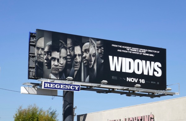 Widows movie billboard