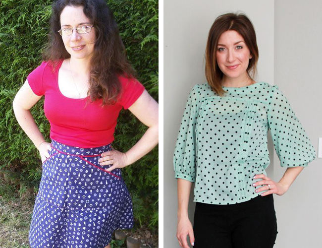 Miette skirt and Mathilde blouse - sewing patterns by Tilly and the Buttons