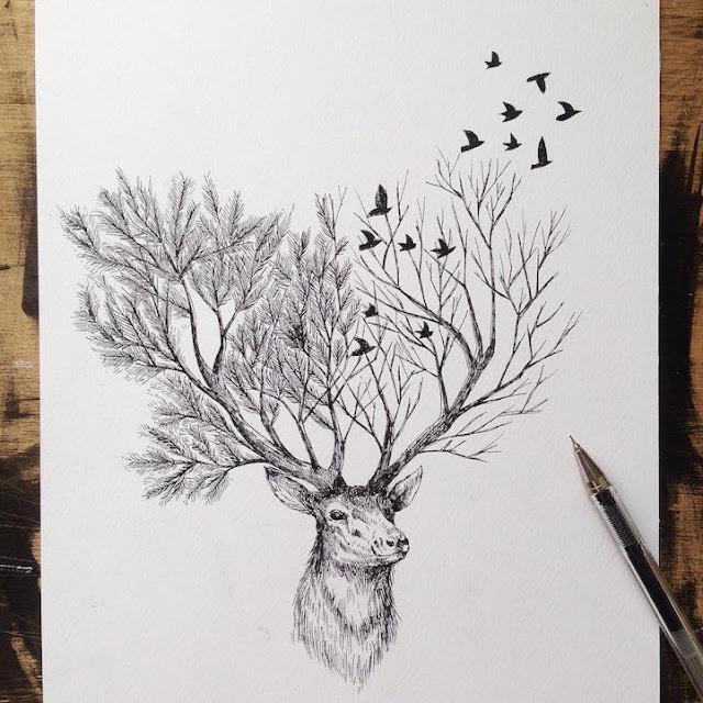رسومات بالقلم الرصاص عن الطبيعة