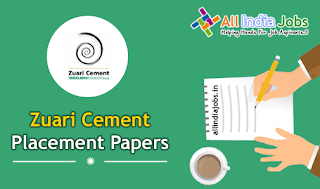 Zuari Cement Placement Papers