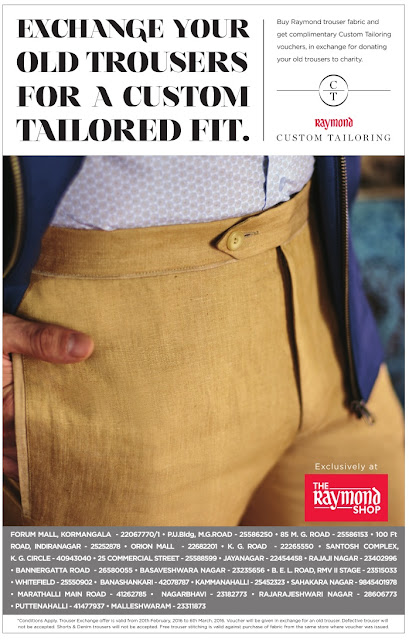 Free pant stitching offer by Raymond