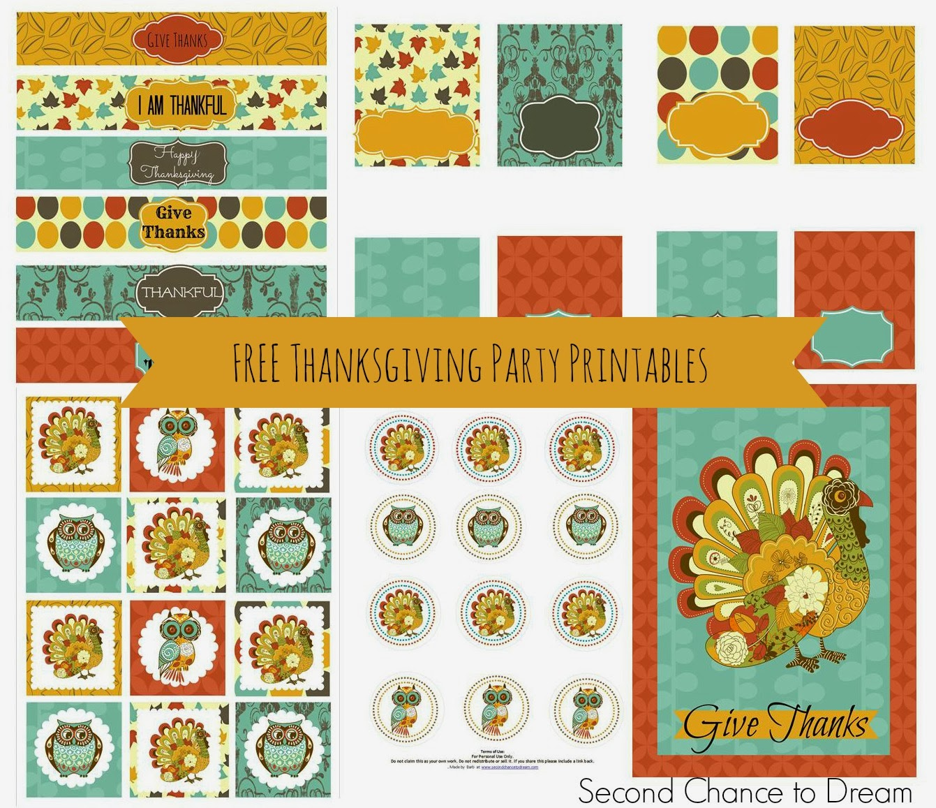 Free Thanksgiving Party Printables Set 1