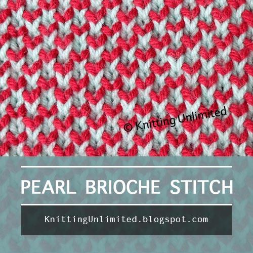 Two Color Peal Brioche Knit stitch