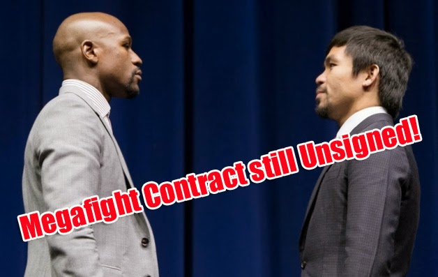 Megafight between Floyd Mayweather Jr and Manny Pacquiao Contract still Unsigned
