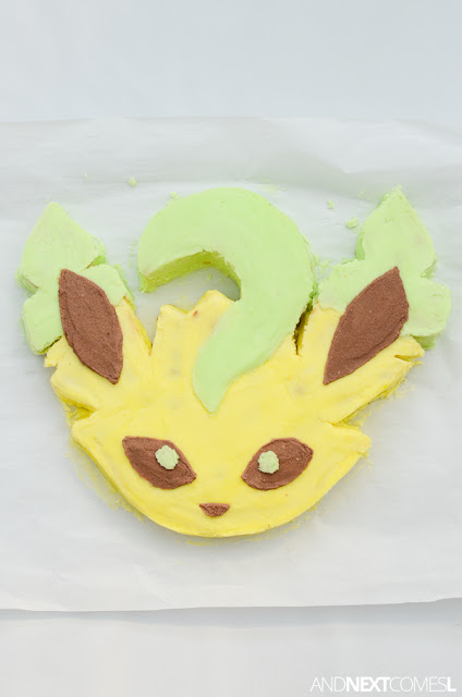 Leafeon Pokemon birthday cake ideas