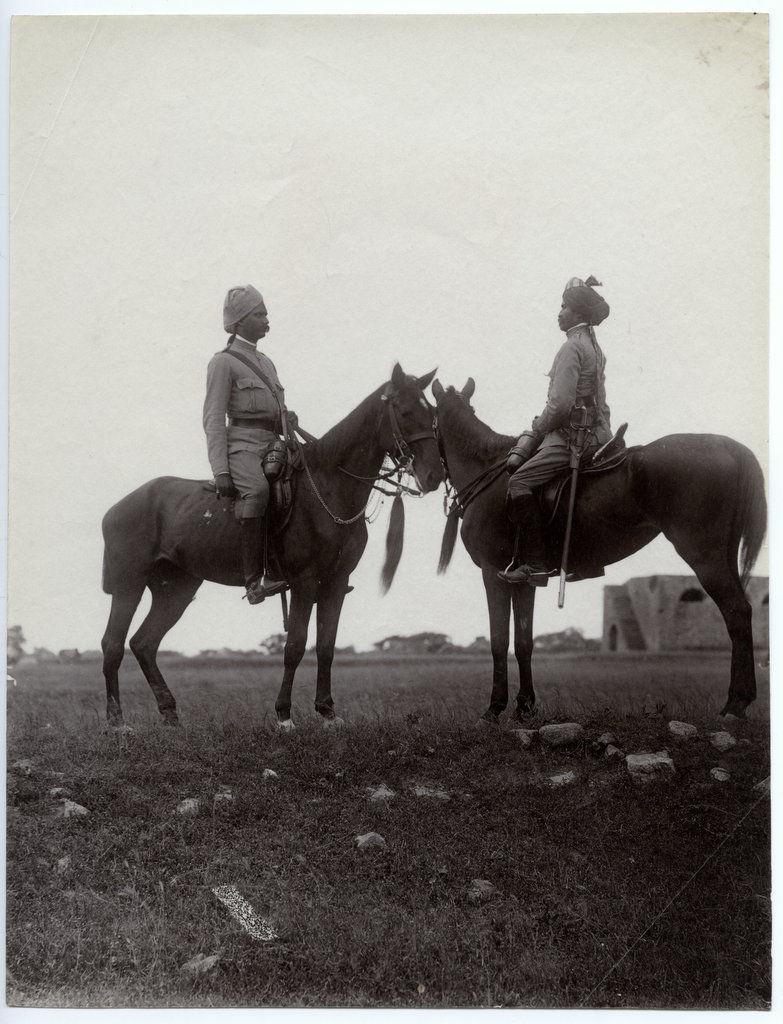 Indian Native Cavalry Men - c1880's