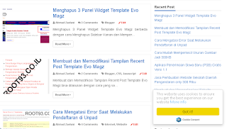Contoh tampilan cookie consent di blog