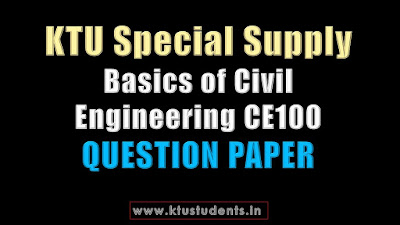KTU Basics of Civil Engineering CE100