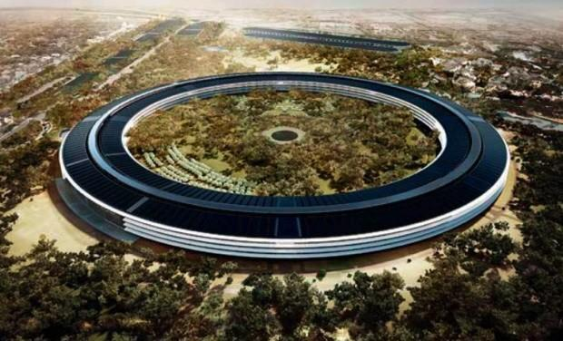 Spectacular Drone Video Of Apples New Ufo Looking