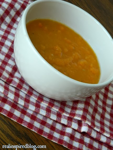 Real Inspired: A Tale of Two Soups-Butternut Squash Apple Soup