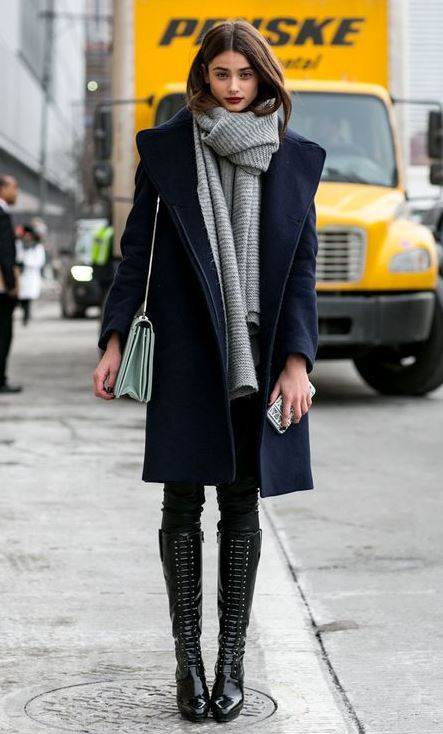Street Style Outfit For Cold Winter