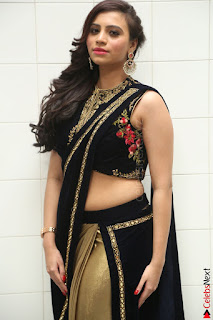 Priyanka Ramana in Beautiful Designer Black Saree At We Craft Elegance Expo Launch 029.JPG
