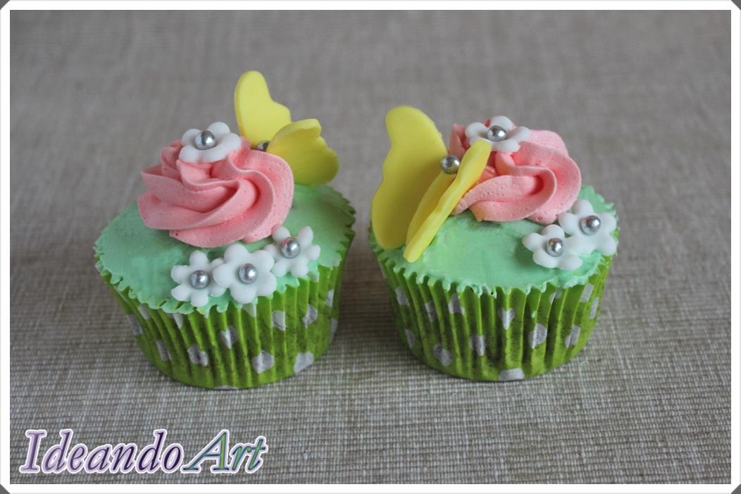 Cupcakes mariposa