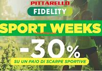 Logo Pittarello ''Sport Weeks : - 30% di sconto su un paio di scarpe sportive!