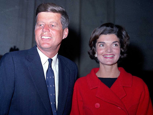 A November 1960 photo of John F. Kennedy and his wife Jacqueline Kennedy.