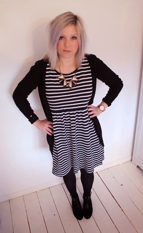 striped smock dress