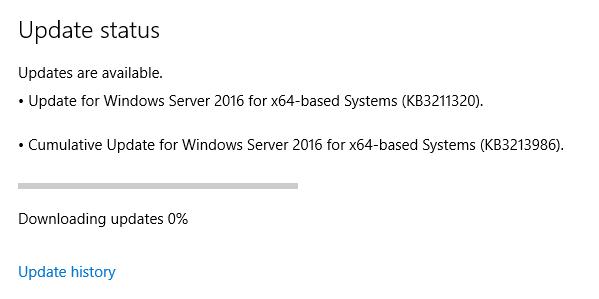 Ken Umemoto's vReality: Windows Server 2016 - Windows Update