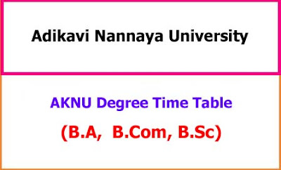 AKNU Degree Exam Time Table