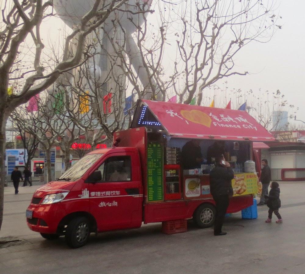 Mobiler Imbisswagen in Pudong, Shanghai