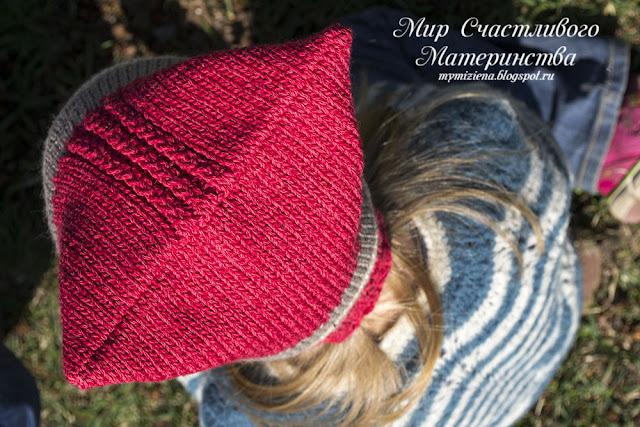 простая модель вязаной шапки