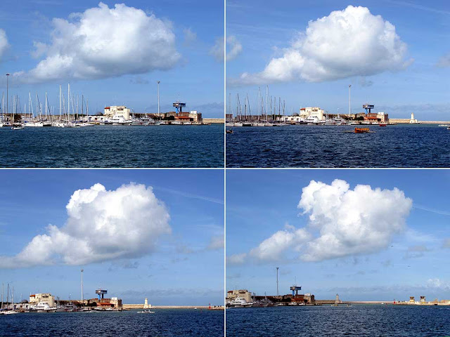 Following a moving cloud, Porto Mediceo, Livorno